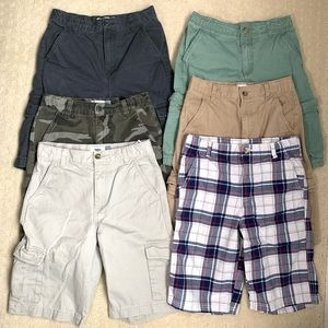 (6) Assorted Colors Boys Shorts